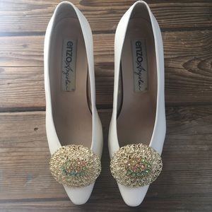 Vintage Art Deco style shoe clips wedding shoes